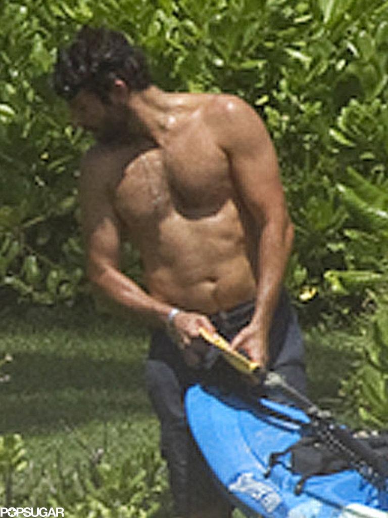Bradley Cooper went shirtless in Hawaii.