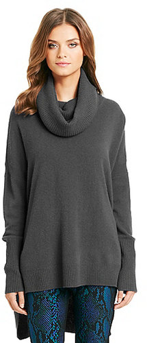 Ahiga Slim Relaxed Cashmere Sweater In Grey Slate