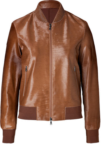 Neil Barrett Haircalf Bomber Jacket in Tobacco