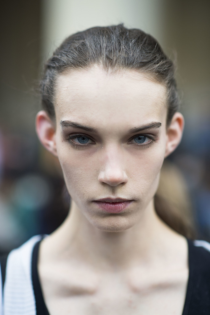Second-day hair? Pull it back into a messy ponytail. Source: Le 21ème   Adam Katz Sinding