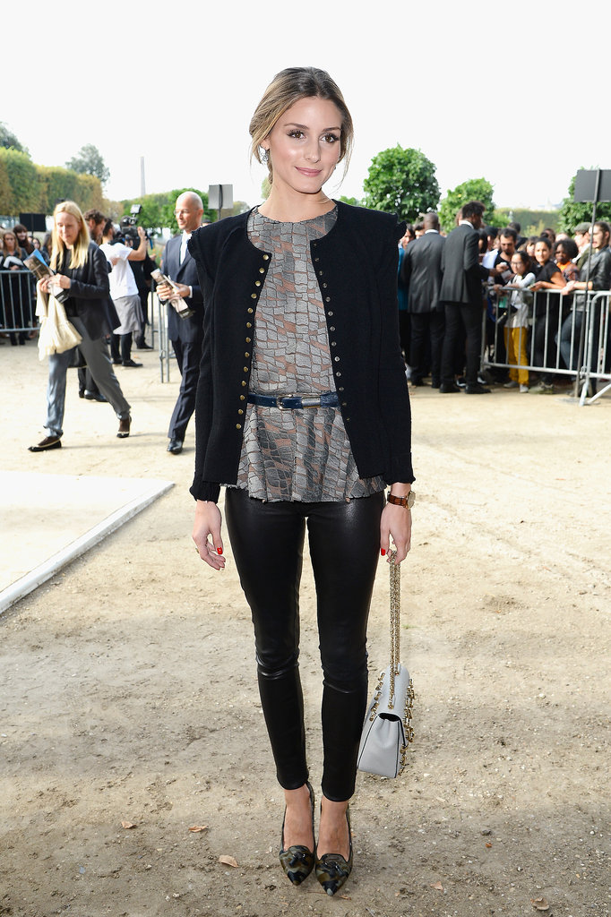 Olivia Palermo made an appearance at the Elie Saab show.
