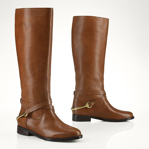 Ralph Lauren Vachetta Stirrup Riding Boot