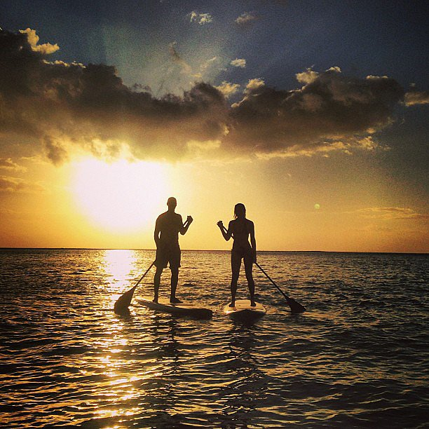 Anyone for paddleboarding? Source: Instagram user ashleyjhart