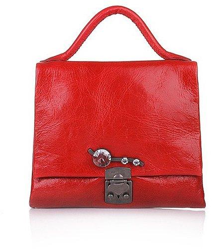 Miu Miu Handbag Vitello Shine Rosso