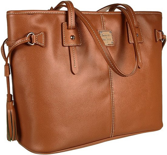 Dooney & Bourke - Davis Tassel Shopper (Saddle Tan) - Bags and Luggage