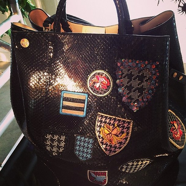 Want to join the Dior club? You may need to snag this bag, complete with badges that contain such prints as houndstooth, which is a hallmark of the brand's DNA.  Source: Instagram user