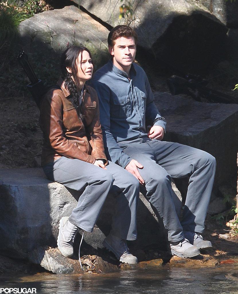 Liam Hemsworth and Jennifer Lawrence got to work on set.