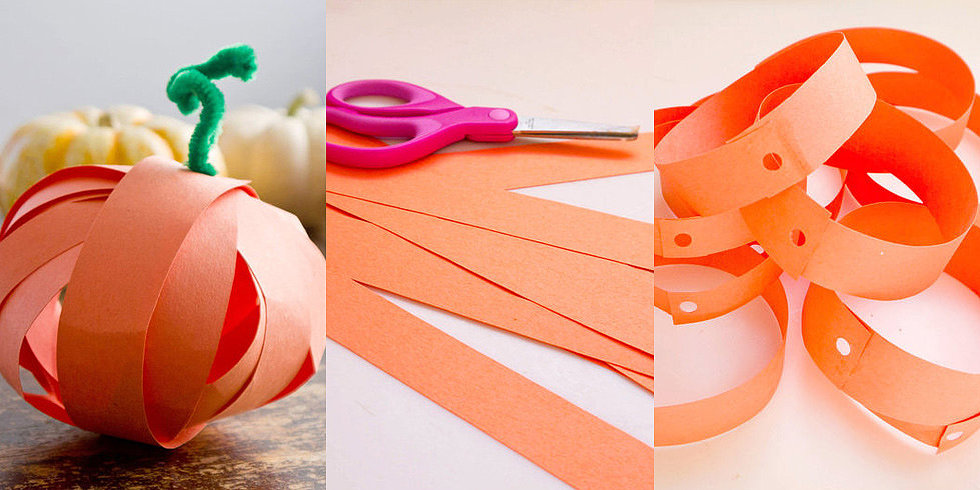 Wrap Up Your Halloween Decorations With Paper Strip Pumpkins