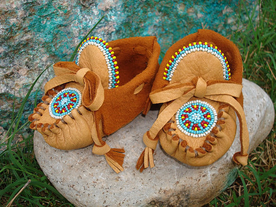 Moccasins by Desi Beaded Moccasins