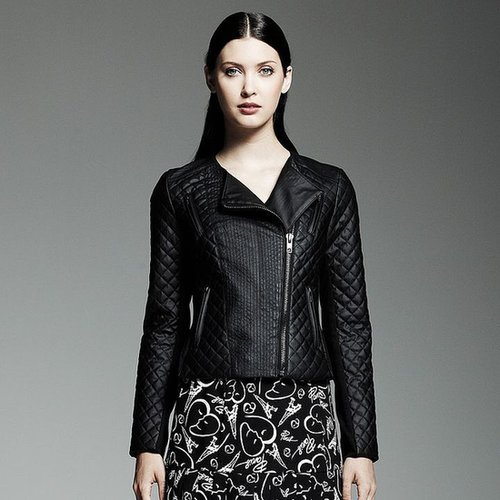 Catherine malandrino for designation faux-leather motorcycle jacket