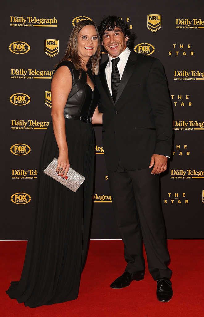 Samantha Lynch and Johnathan Thurston