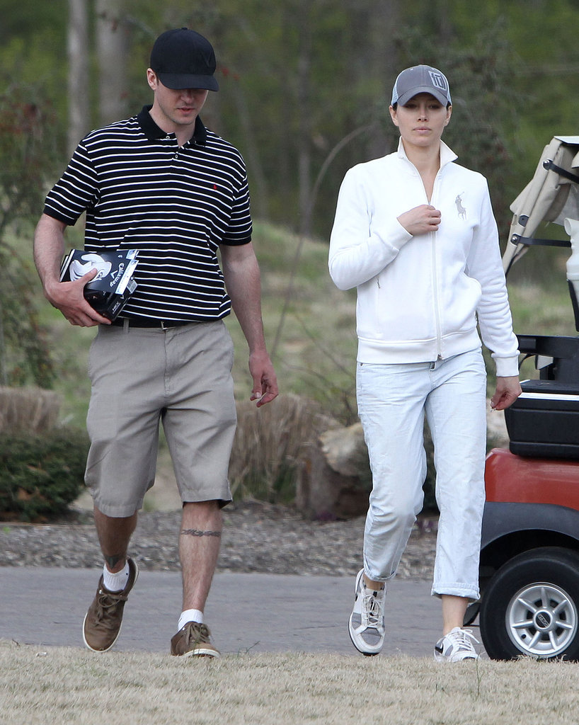 Jessica Biel and Justin Timberlake paired up on April 14, 2013, to go play golf in Tennessee.
