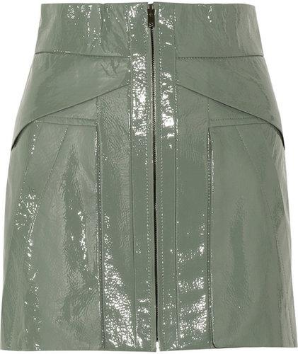 Alexander Wang Patent-leather mini skirt