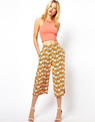 ASOS Crop Trousers in Art Deco Print