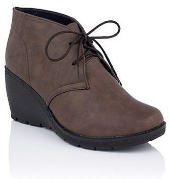 Mushroom Wedge Heel Ankle Boots