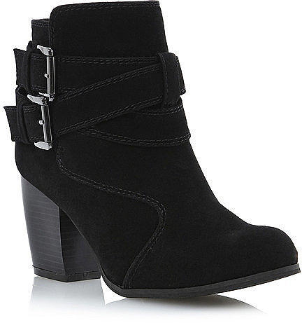 Buckled Strap Ankle Boot