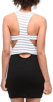 Fashion Lab london racer tank dress w/stripes