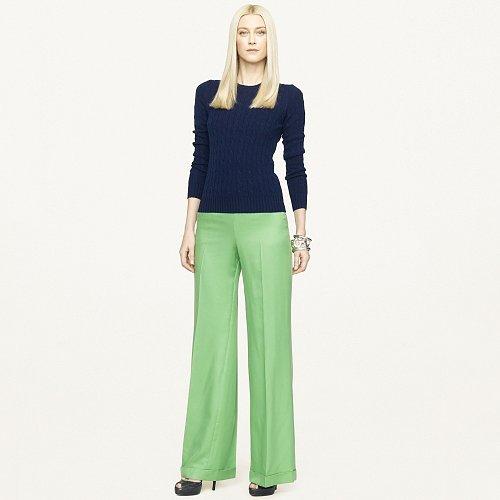 Ralph Lauren Black Label Dalphine Wool-Silk Pant