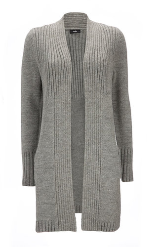Grey Bow Long Cardigan