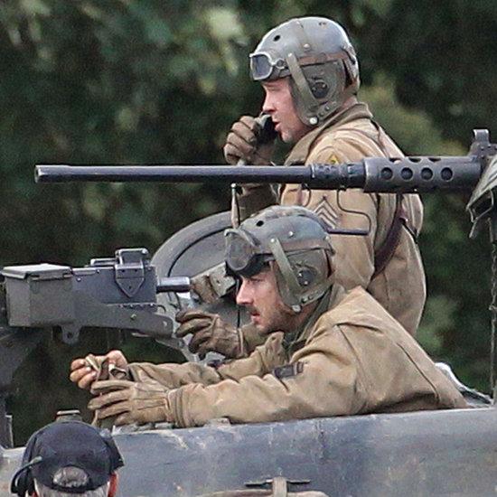 Brad Pitt Filming Fury