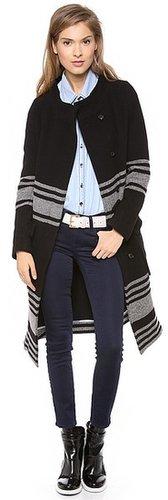 Band of outsiders Blanket Stripe Coat