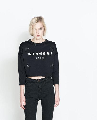 Sweatshirt With Text Design