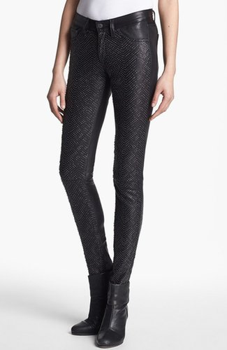 rag & bone/JEAN Embellished Leather Pants