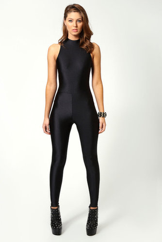 Jules High Neck Sleeveless Disco Catsuit