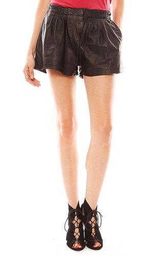 Capulet Leather Trouser Short in Black