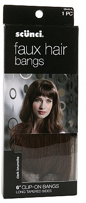 Scunci Faux Hair Bangs, Clip On Bangs 6 inch