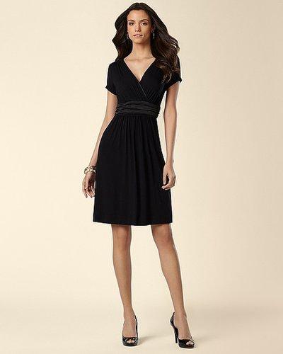 Satin Banded Black Dress