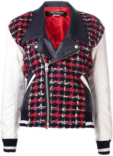 Junya Watanabe contrast sleeve jacket