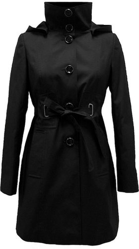 Standup Collar Belted Trench