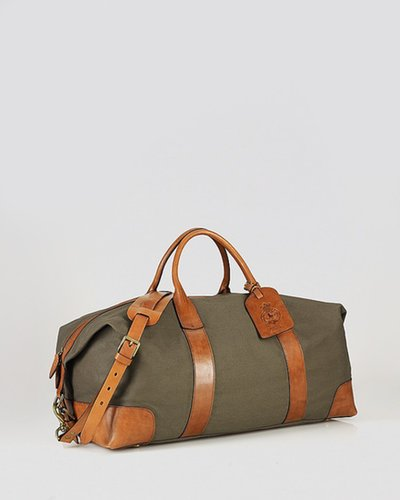 Polo Ralph Lauren Canvas & Leather Duffel Bag