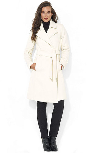 Lauren Ralph Lauren Coat, Wool-Cashmere-Blend Wrap Belted