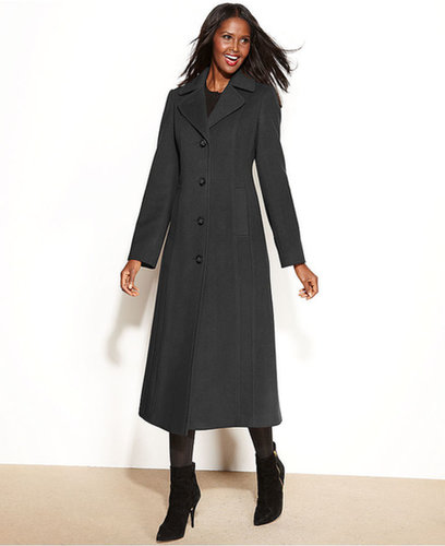 Anne Klein Coat, Wool-Cashmere-Blend Maxi Walker