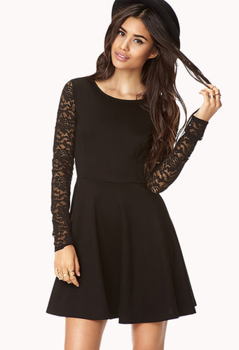 FOREVER 21 Romantic Lace Skater Dress