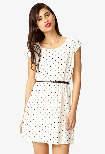 FOREVER 21 Polka Dot Dress w/ Skinny Belt