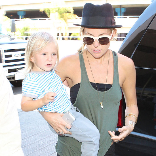 Kate Hudson Catching a Flight With Her Sons at LAX