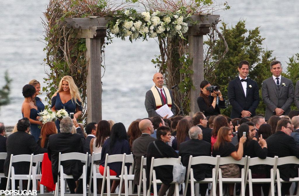 Jessica Simpson was a bridesmaid.