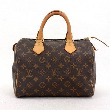 very good (VG) Louis Vuitton Brown Monogram Canvas Speedy 25 City Handbag