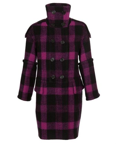 BURBERRY PRORSUM Checked Virgin Wool Coat
