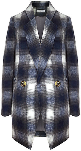 Paisie Double Breasted Tartan Jacket, Multi