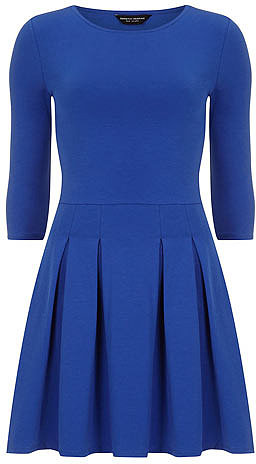 Cobalt pleat skirt dress