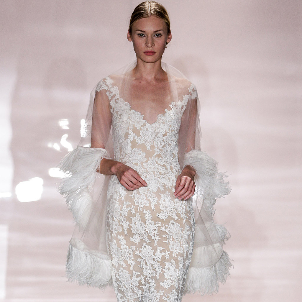 reem acra bridal fall 2014 pictures popsugar fashion