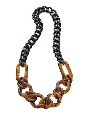 Chunky in a good way, this Adia Kibur necklace ($68, originally $90) is good for layering over everything this Fall.