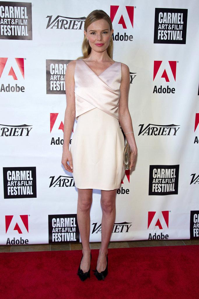 Kate Bosworth in Blush Dior Cocktail Dress