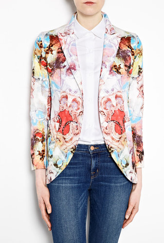 Carven Watercolour Artist Print Cotton Blazer