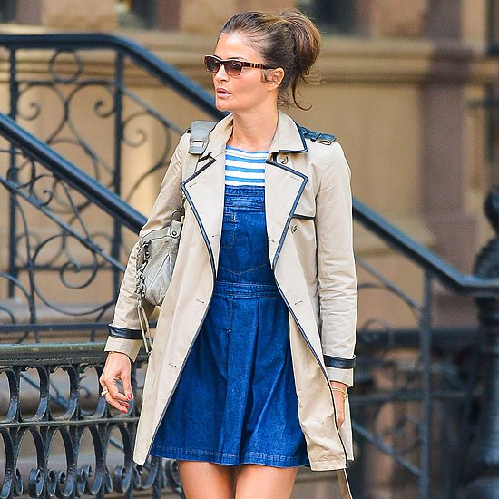 Helena Christensen Denim Dress | Video