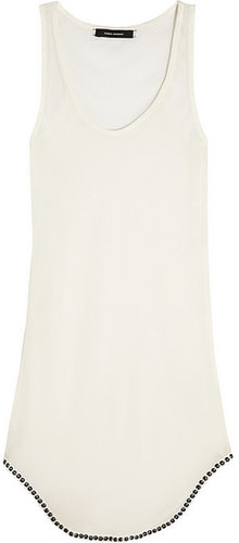 Isabel Marant Purdie studded silk-georgette top